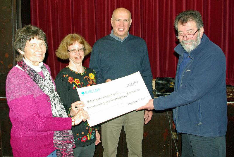 (L_R) Jenny Whalley, Caroline Nichol, Malcolm Tillyer & Eric Robson presenting a cheque for £10.700. - David Johnson